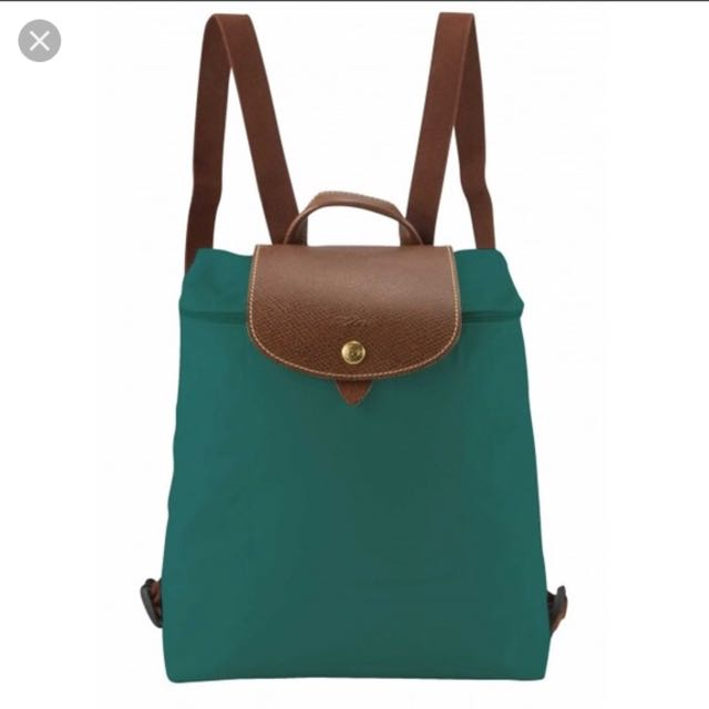 Authentic Longchamp green backpack