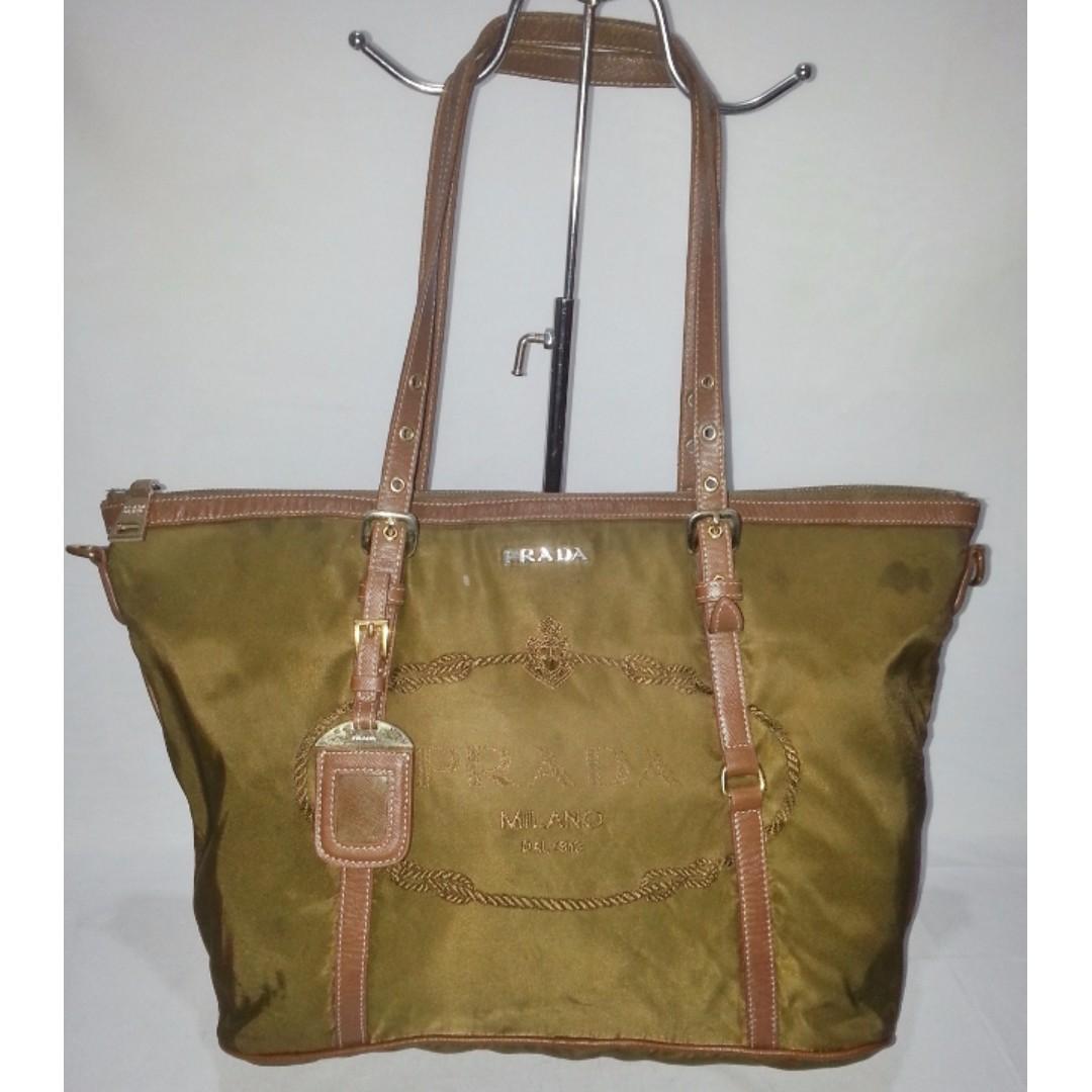 Authentic Prada Shopper's Tote Bag