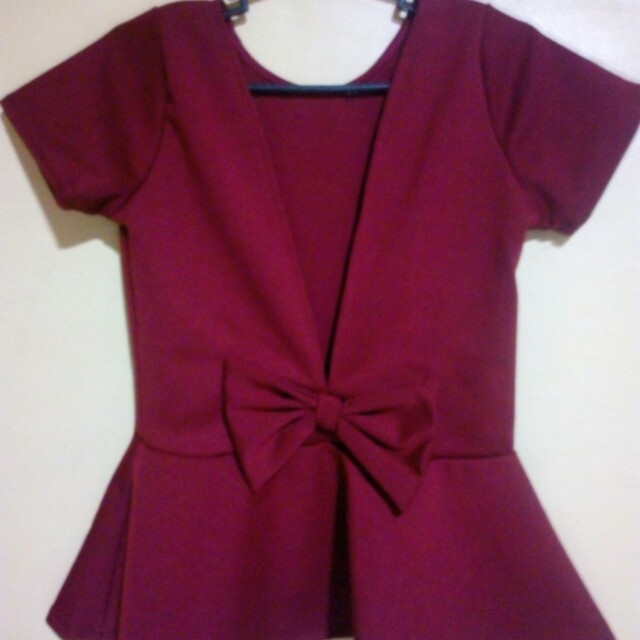 Backless Bow Tie Tops