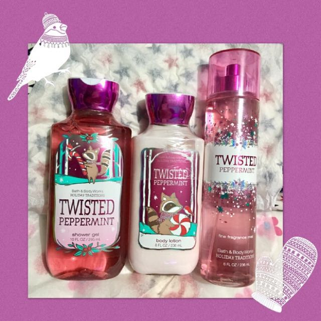 Bath and Body Works Twisted Peppermint - set of 3