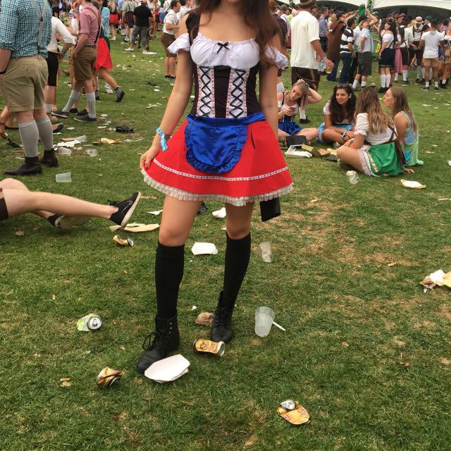 Bavarian Oktoberfest Maid Costume