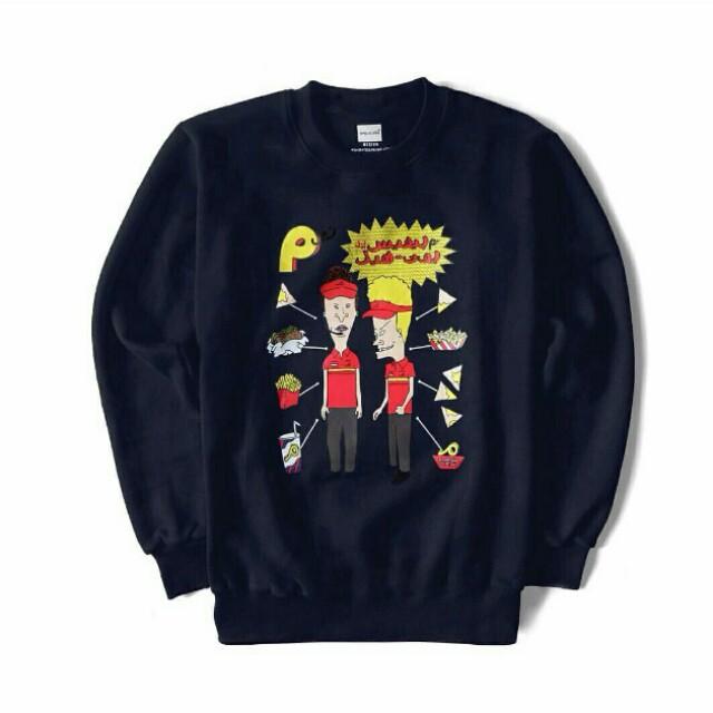 Beavis and butthead navy sweater