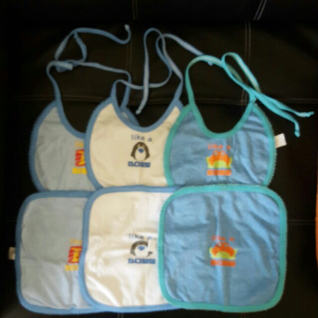 Bibs with Burping pad set for baby boy