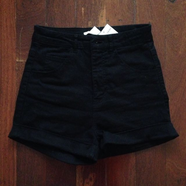 Black high waisted H&M shorts