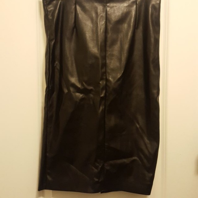 #BlackFriday50 Black Leather Skirt