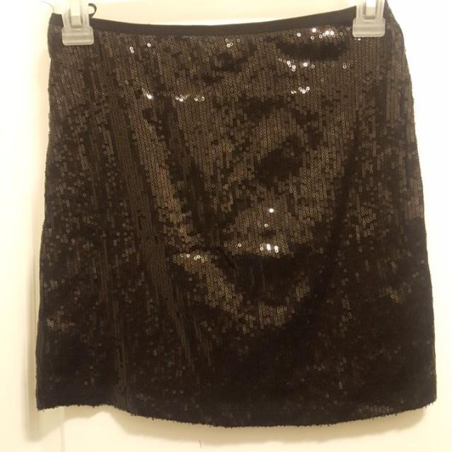 #BlackFriday50 Black Sequin Mini Skirt