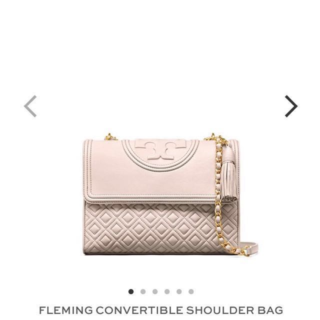 BNIB Tory Burch Fleming Convertible Bag (Nude)