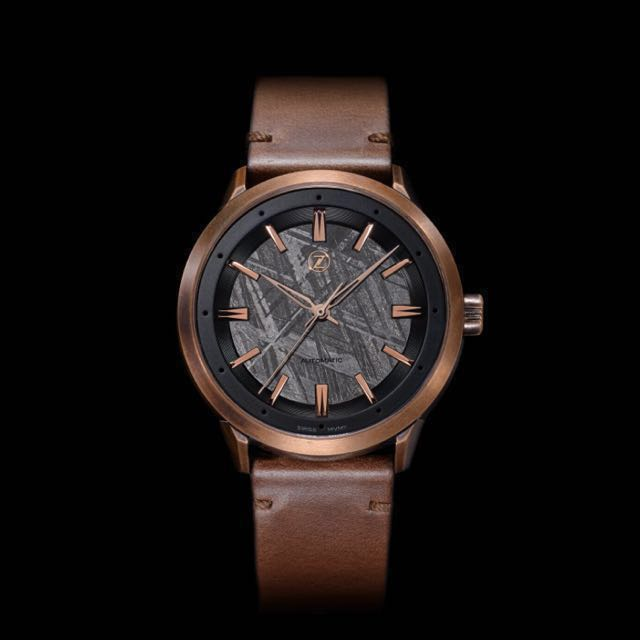 942225ad9c5 BNIB Zelos Visionary Bronze Meteorite Dress Watch (Swiss Automatic ...