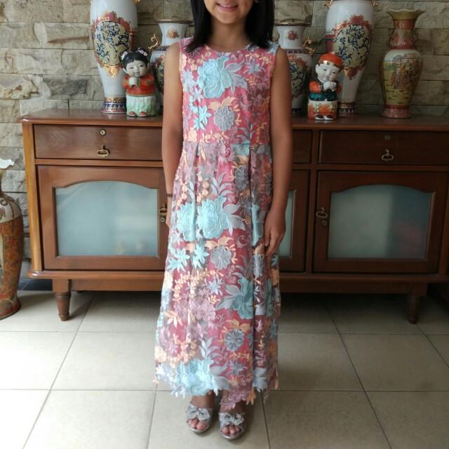 Brocade Flowery Dress