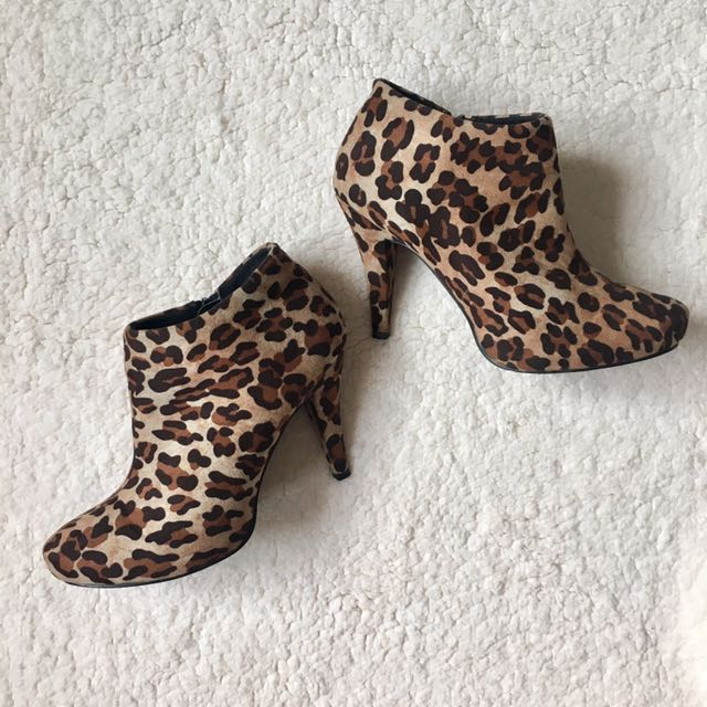 Call It Spring Leopard Print Ankle Boots