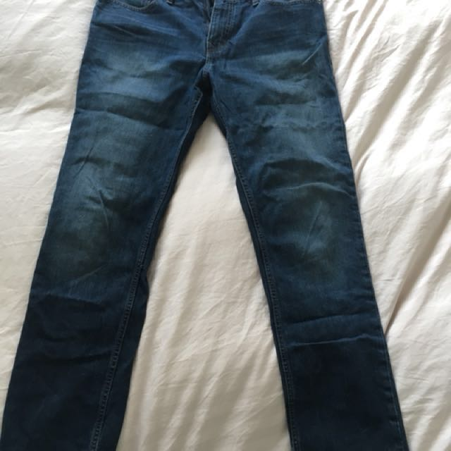 Calvin Klein Jeans men's dark wash Slim Straight W31/L32