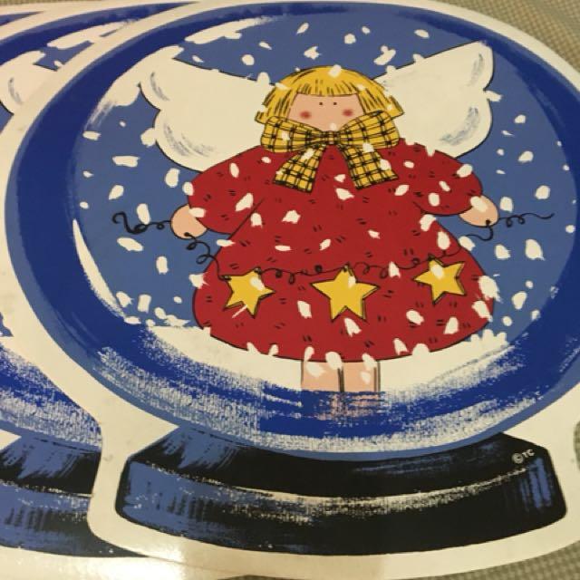 Christmas angel placemats 6pcs