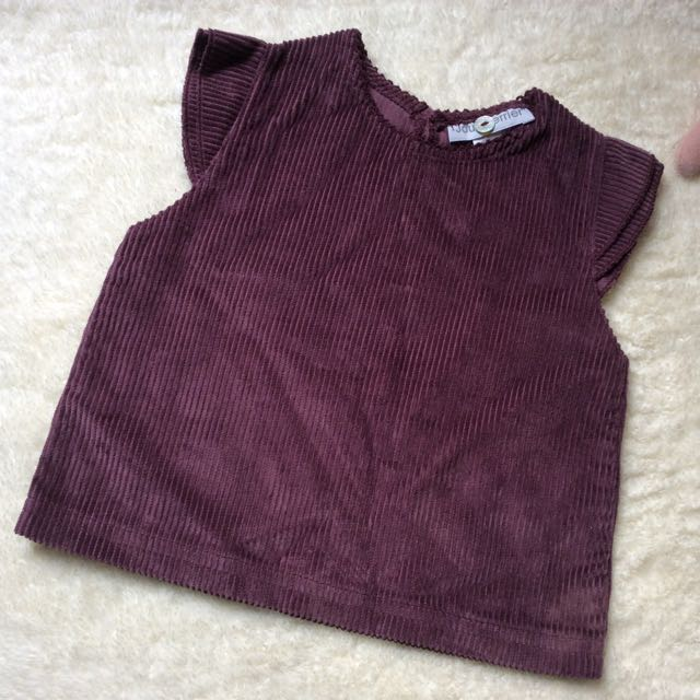 Cute brown cordoroy top for babies