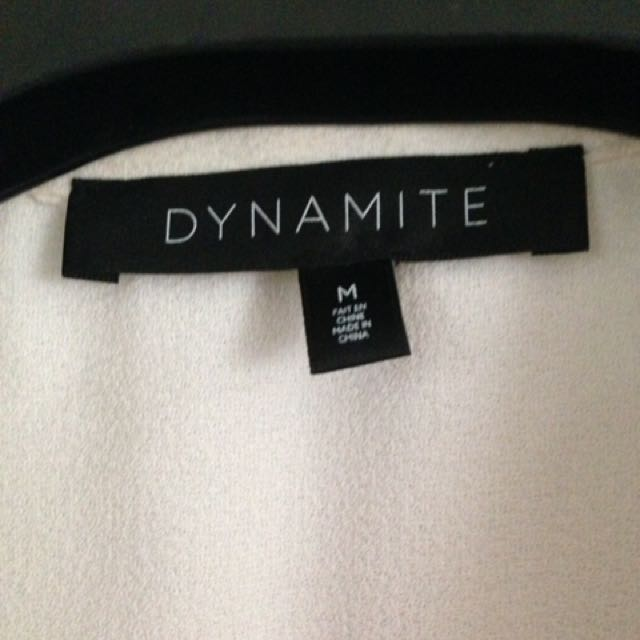 Dynamite White Vest - Size Medium
