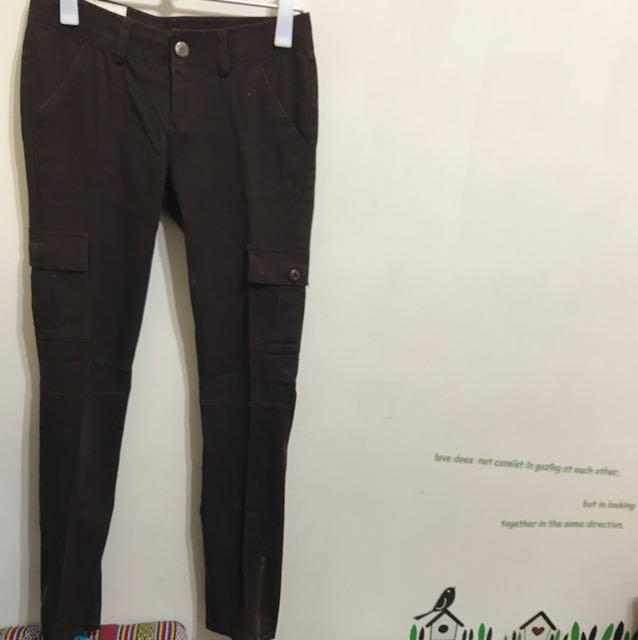 義大利品牌Euro Como棕色長褲