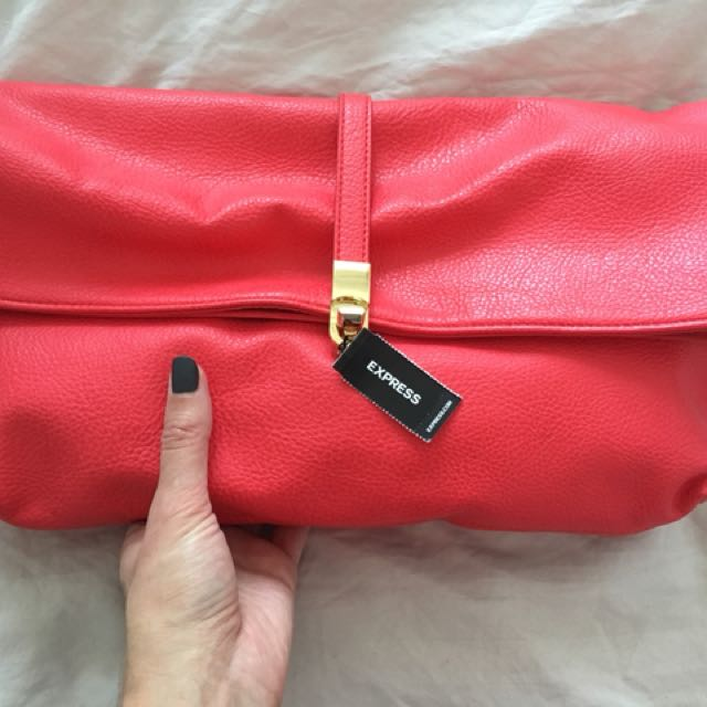 Express Red envelope clutch