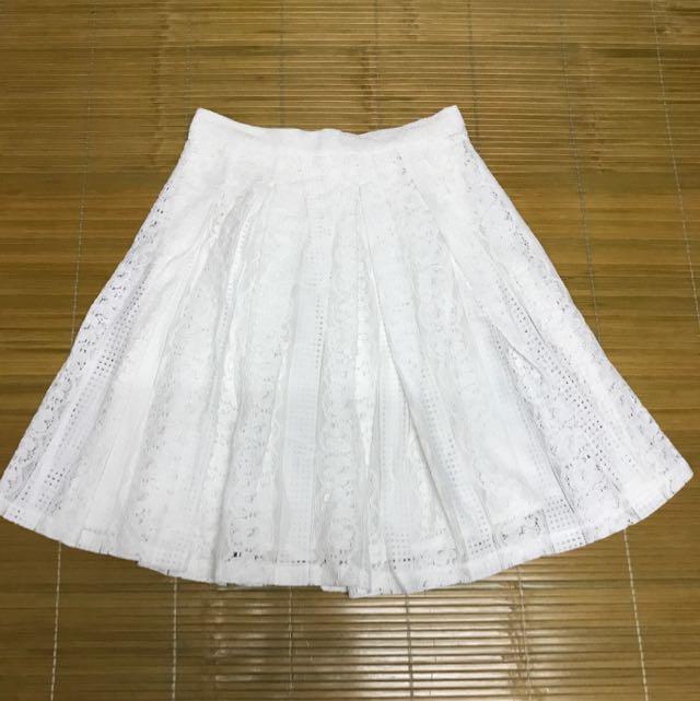 Forever21 超氣質白雕花裙子