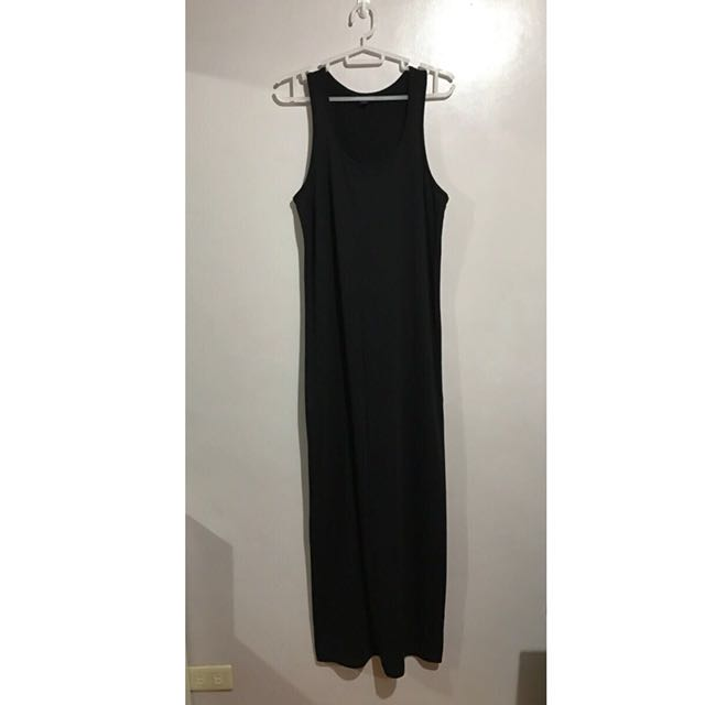 Forever21 black racer back maxi dress