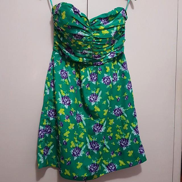 Gap floral tube dress with boning
