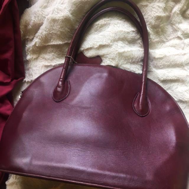 Genuine Italian Leather Vintage Handbag