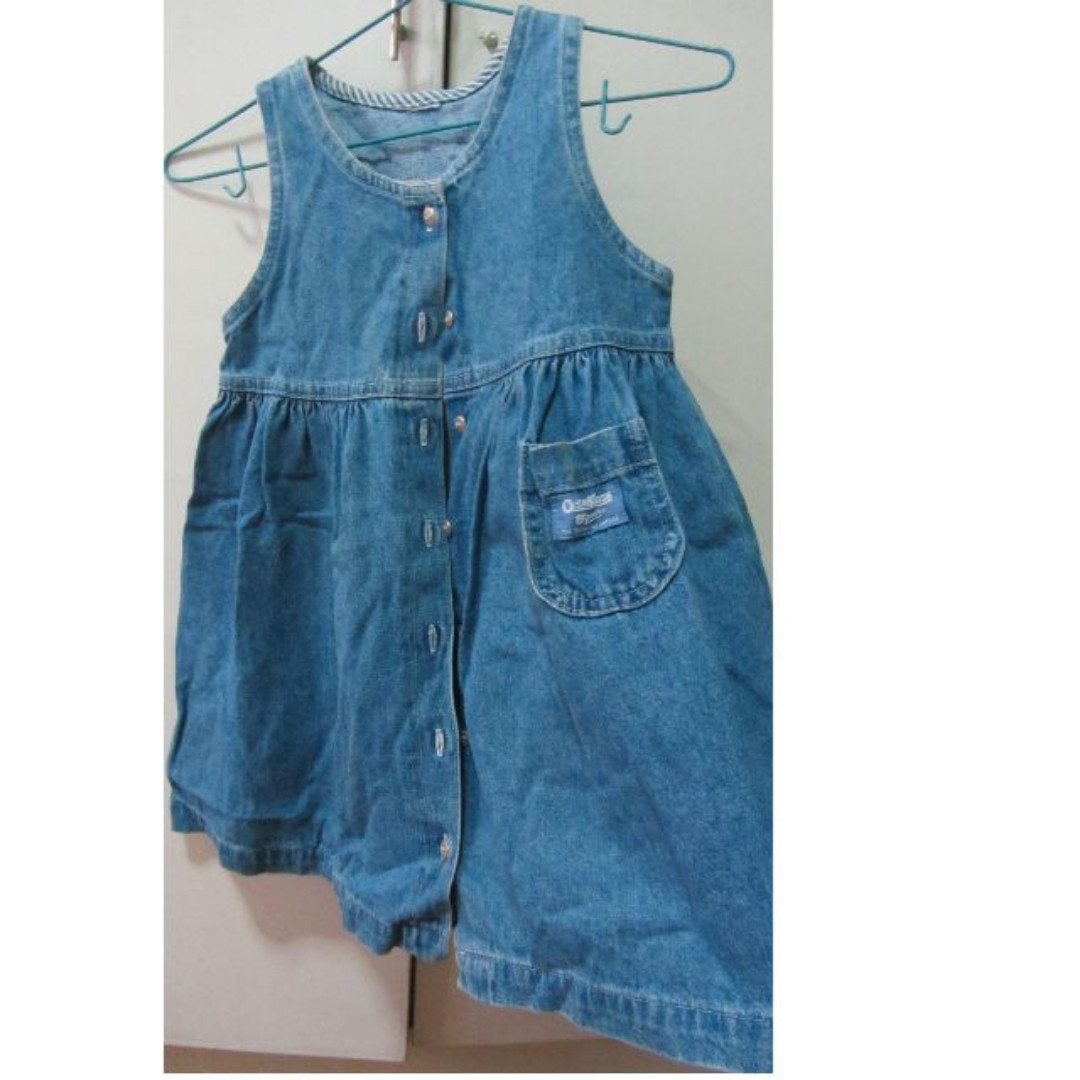 girls oshkosh denim dress