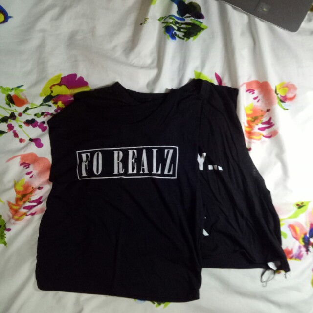 Graphic Crop Shirt Set