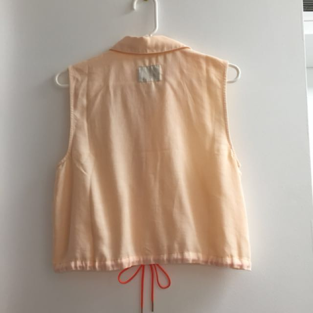 Guess linen cropped top