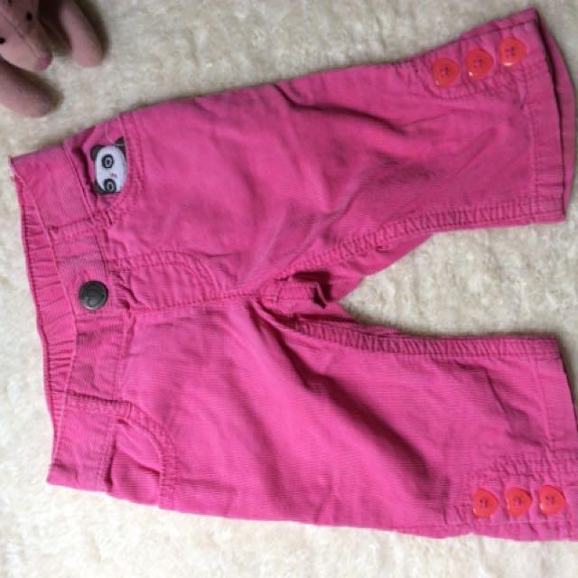 Gymboree pink cordoroy soft pants