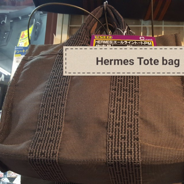 Hermes Tote canvas bag