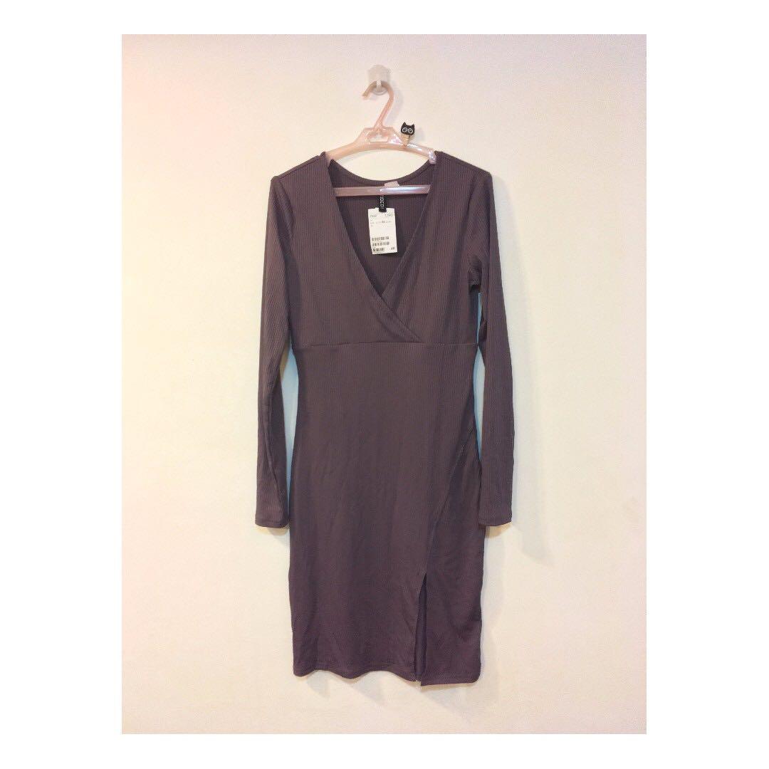 H&M Plum Slit Dress