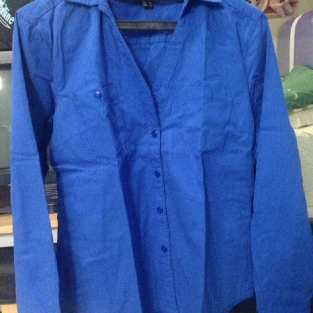 H&M SHIRT BLUE