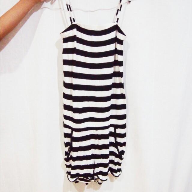 h&m stripes jumpsuit