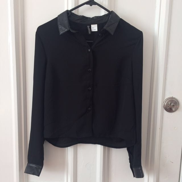 HNM black long sleeve top