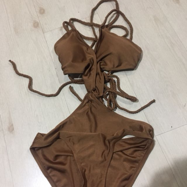 I love koi swimwear Bonette Maillot in Brown