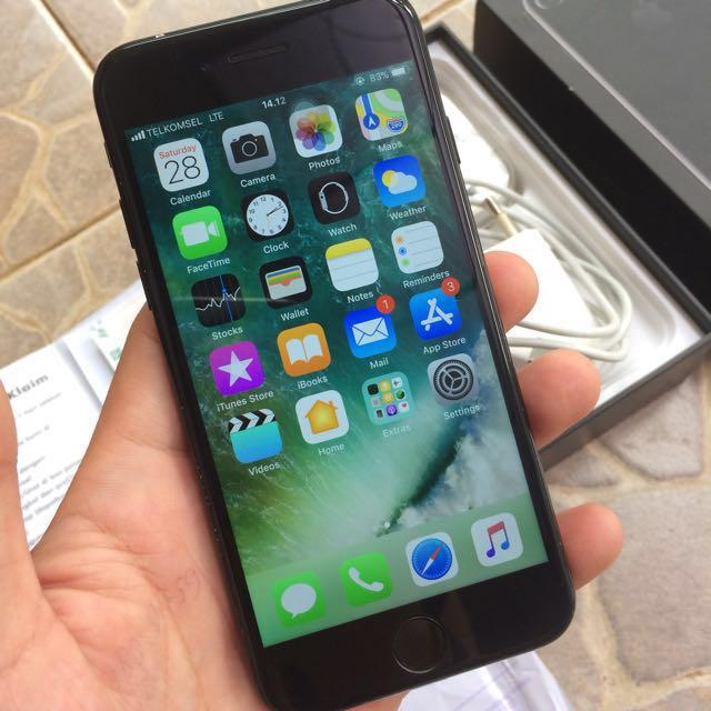 harga iphone 7 plus jet black ibox