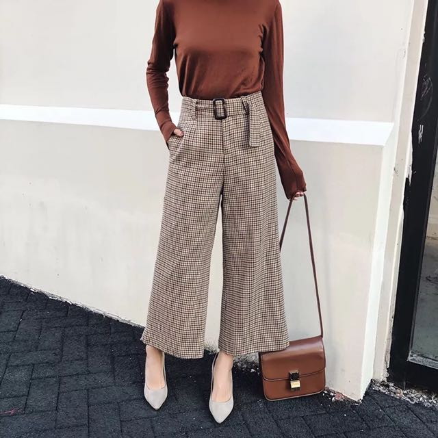 latest style hot-selling authentic best quality for 🔥Inspired Zara High Waist Checkered Wide Leg Pants Waist ...