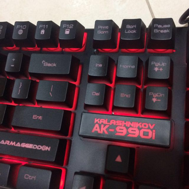 Kalashnikov AK-990i Keyboard, Electronics, Computer Parts & Accessories on Carousell