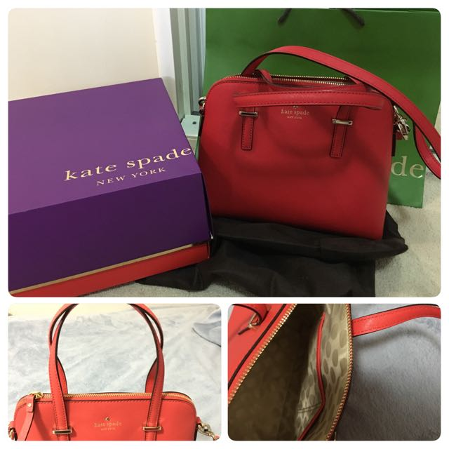 Kate spade bag and coach wrislet wallet for sale