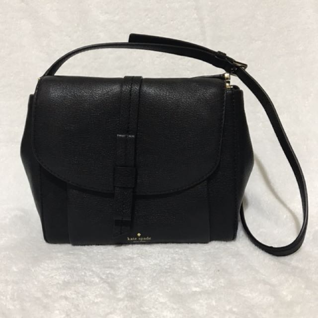 Kate Spade New York Finlee Randall Street WKRU4613 Black Leather NWT