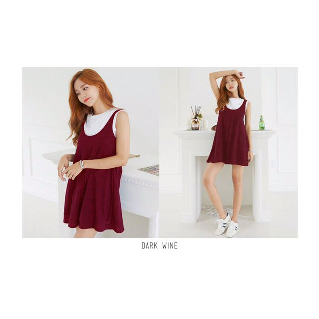 Korean Red Wine Jumpsuit