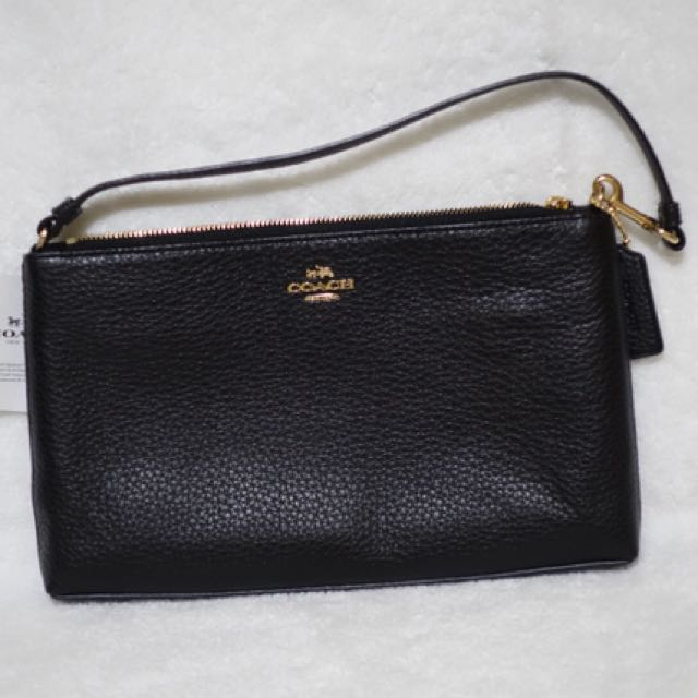 LARGE WRISTLET 25 IN NATURAL REFINED PEBBLE LEATHER COACH F12185