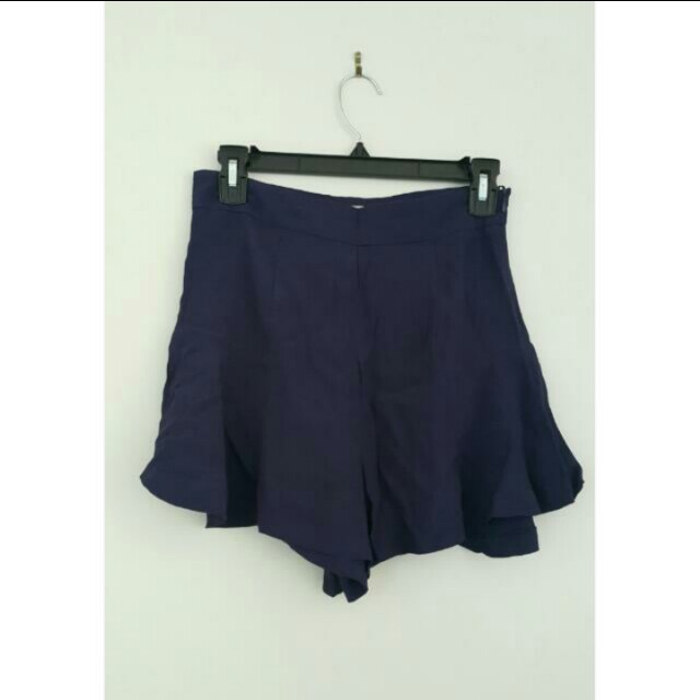 Little One Flowy Navy Shorts