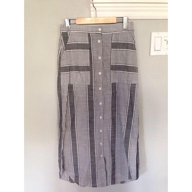 Lulu's Striped Midi Skirt