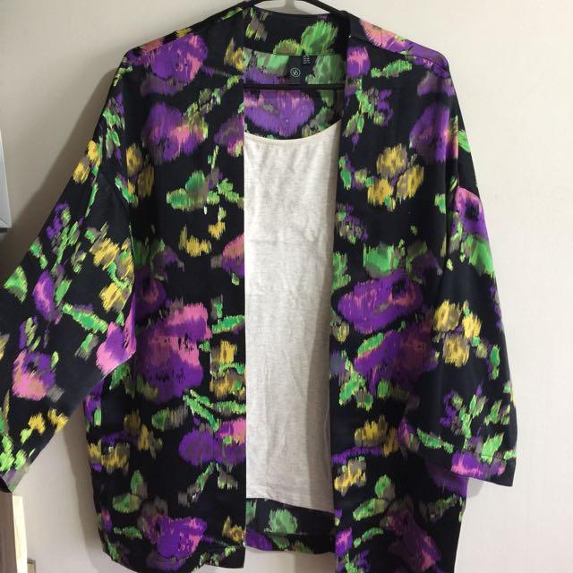 LZD floral kimono + free tank top