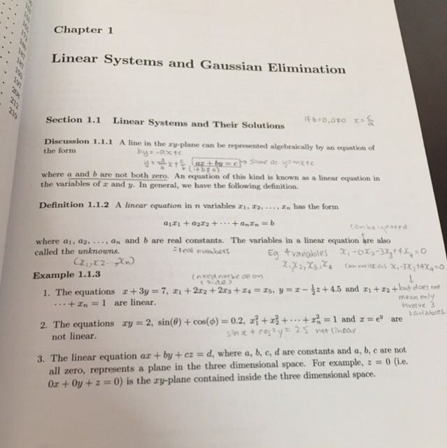 Ma1101 linear algebra nus math modules textbooks on carousell fandeluxe Images