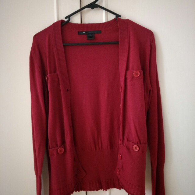 Marc Jacobs red cardigan M