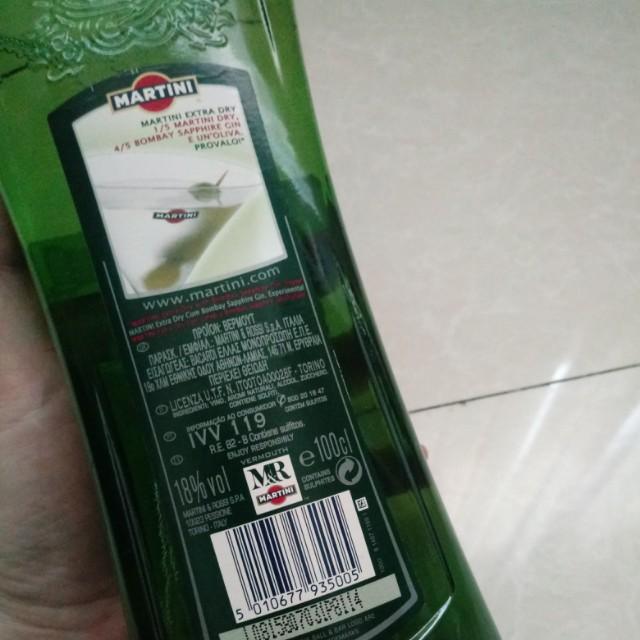 MARTINI dry 98%(cuma buka segel belum pernah diminum)