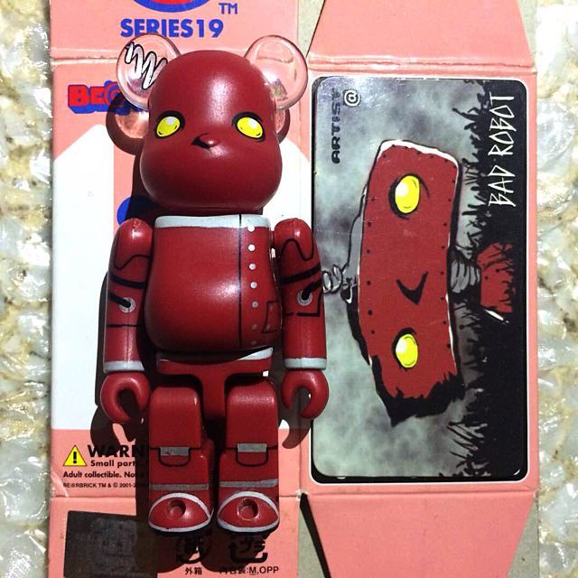 Medicom BE@RBRICK Series 19 Artist [Bad Robot] 100% Bearbrick
