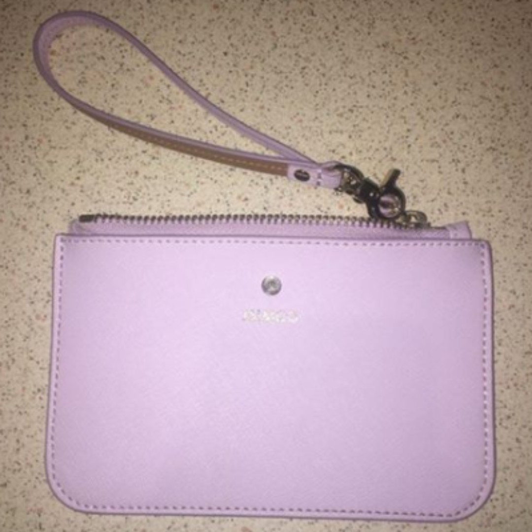 mimco supermica pouch wallet purse lavender purple