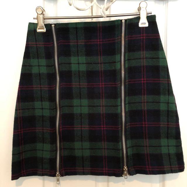 Missguided Tartan Mini Skirt